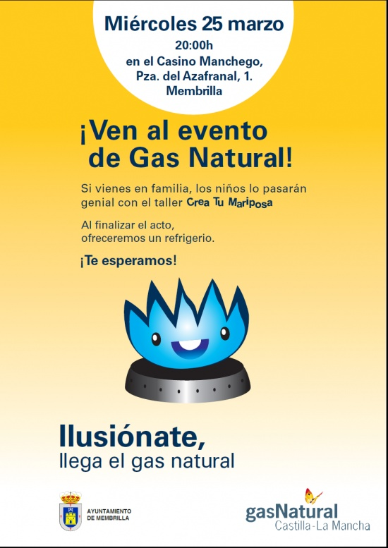 Gas Natural llega a Membrilla