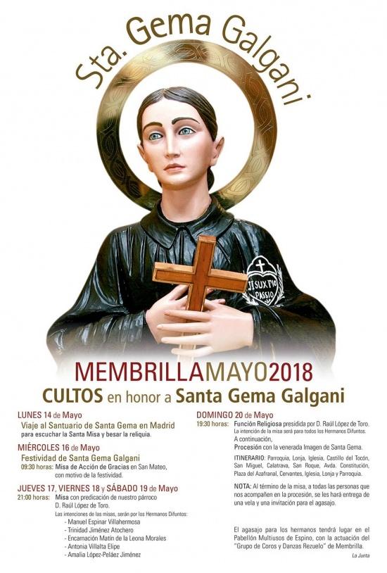 Santa Gema 2018