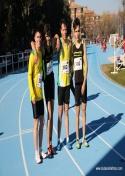 Buen estreno de los atletas del C.A. Membrilla en Pista Cubierta