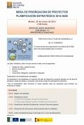 Mesa de priorización de Proyectos Planificación estratégica 2014-2020