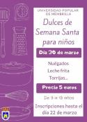 La Universidad Popular organiza Curso de Cocina para Niños: Dulces de Semana Santa