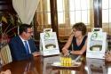 Presentación de FERIMEL a la Ministra de Agricultura, Isabel Gª Tejerina