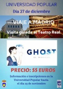 La Universidad Popular organiza Viaje a Madrid al Musical Ghost