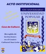 25 Aniversario de la Universidad Popular de Membrilla. Acto Institucional
