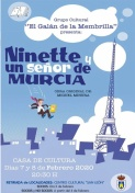 """El Grupo Cultural """"El Galán de la Membrilla"""" pone en escena Ninette y un Señor de Murcia."""