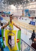 Manuel Jiménez representa al C.A. Membrilla en los campeonatos Master de Antequera de Pista Cubierta con un buen resultado.