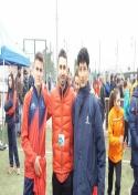 Sufian L´Gouche y Carlos Moraleda rozan el podio con la selección de Castilla la Mancha de campo a través.