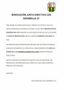 Renovación de la Junta Directiva del Membrilla C.F.