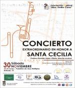 """Concierto en honor a Sta. Cecilia de la A.M. """"Maestro Emilio Cano"""""""