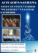 """El Grupoo de Coros y Danzas """"Rezuelo"""" y la Coral """"Battistini"""" en Navidad."""