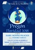 "Pregón de Navidad 2018 del Grupo Cultural ""El Galán de la Membrilla"""