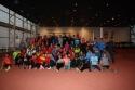 Tres atletas del C.A. Membrilla en la concentración de navidad organizada por la Federación