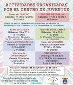 Actividades del Centro Juvenil de Septiembre a Diciembre
