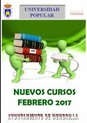 Nuevos Cursos de la Universidad Popular. Febrero 2017