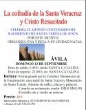 Excursión a Ávila organizada por la Cofradía de Santa Veracruz y Cristo Resucitado