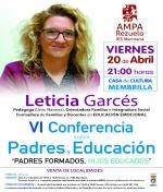 VI Conferencia sobre Padres y Educación. Organiza Ampa Rezuelo
