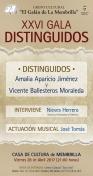 """XXVI Gala de Distinguidos del Grupo Cultural """"El Galán de la Membrilla"""""""