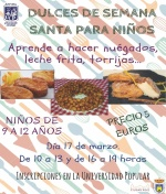 Curso para niños de Dulces de Semana Santa