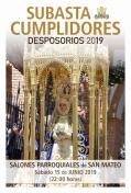 Subasta Cumplidores Desposorios 2019