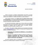 El Ayuntamiento Informa sobre las medidas especiales que afectan a Membrilla