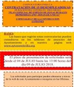 Convocatoria para la contratación de trabajadores desempleados