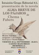 Presentación de la Novela Alma Breve de los Pajaos de Chema Fabero