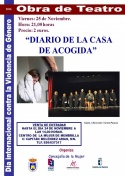 """""""Diario de una casa de acogida"""". Teatro el día internacional contra la violencia de género"""