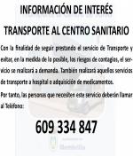 Transporte al Centro Sanitario