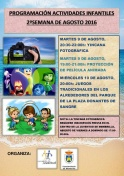 Actividades Infantiles 2ª Semana de Agosto 2016