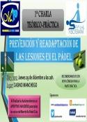 Charla: Prevención y readaptación de lesiones en el Pádel