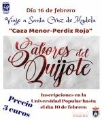 Sabores del Quijote en Santa Cruz de Mudela