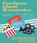 Cine Forum infantil en el Centro Juvenil.